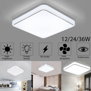 Bright Square LED Ceiling Down Cool White Light Panel Wall Kitchen Bedroom Lamp