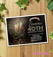 Birthday Party Invitations 40th 50th 60th 30th 21st Personalised / Envelopes