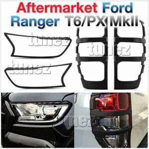 Matte Black Front Tail Rear Light Lamp Cover For Ford Ranger Raptor 2019 2020 OZ