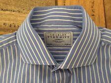 Charles Tyrwhitt Short Sleeve Striped Formal Shirts for Men
