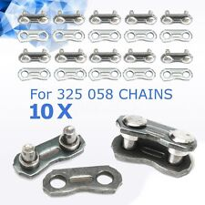 10 Sets Steel Chainsaw Chain Joiner Link for JOINING 325 058 Chain 1.5x0.5cm
