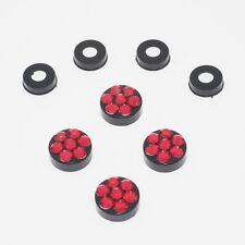 Red Crystal Rhinestone Screw Black Caps for Bling Sparkle License Plate Frame