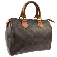 LOUIS VUITTON SPEEDY 25 HAND BAG PURSE MONOGRAM CANVAS M41528 892FC A47782