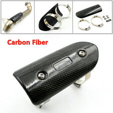 Universal Motorcycle Exhaust Pipe Guard Heat Shield Carbon Fiber Cover Protector