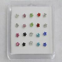 Fashion Jewelry Nose Rings Gems Flower Body Piercing Nose Studs Ring
