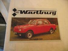 IFA Prospekt Wartburg 353 in holländischer Sprache 1985
