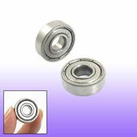 15x26x8 mm BLACK 15268-2RS 2 PCS Rubber Sealed Ball Bearing Bearings