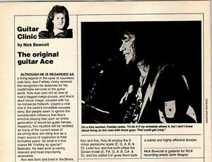 1987 VINTAGE 1PG ARTICLE GUITAR CLINIC WITH ACE FREHLEY OF KISS SHOWS 7 LICKS