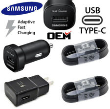 OEM Adaptive Fast Rapid Car & Wall Charger For Samsung Galaxy S9 S8+ USB Type-C