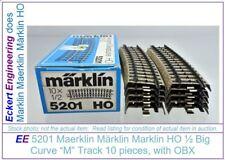 "EE 5201 GD (Fair to Good) Marklin HO ""M"" Track Stubby Big Curve Box of 10 OBX"