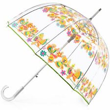 TOTES BUBBLE DOME MANUAL ~BUTTERFLIES~ UMBRELLA NWT