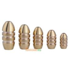 5pcs Copper Brass Thread Bullet Shape Fishing Sinkers Weight Fishing Tackle #ORP