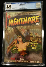 1952 Ziff Davis Nightmare #1 CGC 3.0 Off White to White Pages
