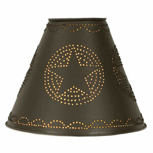 Star Lamp Shade in Rustic Brown Tin
