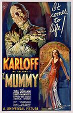 The Mummy Boris Karloff Horror Film Vintage Cinema Movie Poster Print Picture A4