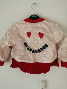 H&m Girl's Studio Collection Red Paddy Jacket Size 2-3 years Old
