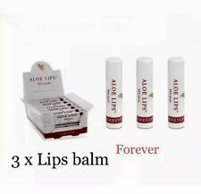3X Forever Living Aloe Vera Lip Balm Jojoba Lip Balm Sticks Authentic Sealed New