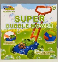 Super Bubble Mower Boys Girls Toy Kids Entertainment Outdoor Fun 3+ Cool Bubbles