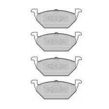 Borg & Beck Anteriore Set Pastiglie dei freni Audi, Seat, VW, SKODA 176698151, 1J0698151A