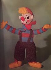 Ct9-Knitting Pattern-CHARLIE IL CLOWN giocattolo per bambini/doll