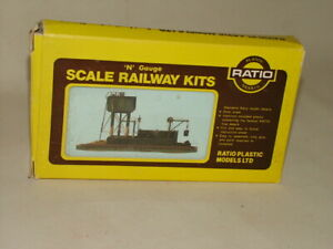 RATIO VINTAGE N GAUGE RAILWAY KIT #206 LOCOMOTIVE SERVICING DEPOT UNMADE BOXED