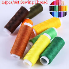 24x Colour Polyester Cotton Thread Set Reel Spool Quality Hand Sewing YarnPure-