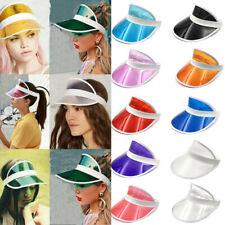 Wholesale PVC Hat Sun Visor Party Casual Hat Clear Plastic Adult Sunscreen Cap