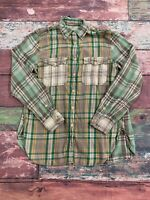 Denim And Supply Ralph Lauren Green Plaid Long Sleeve Button Up Women's Size XS