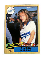 Alyssa Milano Los Angeles Dodgers Trading Card 1987 Topps Future Stars
