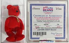 """ULTRA RARE ODDITY!! """"OSITO (MISSING FLAG!)"""" Bear AUTHENTICATED Ty Beanie Babies!"""