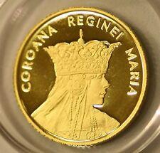 ROMANIA 10 Lei 2015 Gold PROOF Romanian Rumänien UNC Queen Mary Regina MARIA