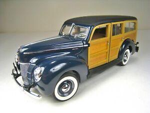 DANBURY MINT 1:24 Die Cast Metal 1940 Ford Woody Station Wagon - Near Mint Cond