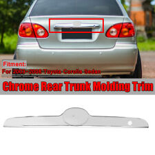 Replacement Chrome Rear Trunk Molding Cover Trim For Toyota Corolla Sedan 03-08