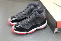 NEW Nike Air Jordan 11 XI Retro OG Bred Black Red White  378037-061 EU40-45
