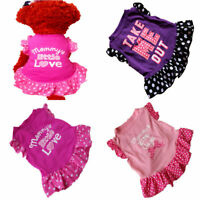 Summer Pet Clothes for Small Dog Puppy Princess Dress Printed Chihuahua Skirts