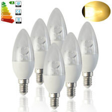 6 x SES E14 8W LED Candle Bulbs Warm White Light Spotlight 60W Spot Bulb Flame