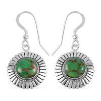 Dangle Drop Earrings 925 Sterling Silver Green Turquoise Southwest Jewelry Gift