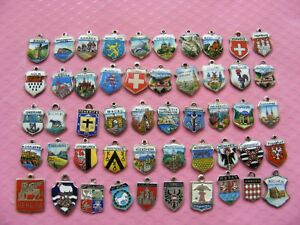 3b) VINTAGE 800 + STERLING SILVER CHARM CHARMS UK & EUROPE TRAVEL SHIELD
