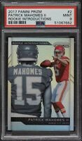 2017 Prizm Introductions Patrick Mahomes ROOKIE Silver Holo Prizm RC PSA 9 MINT