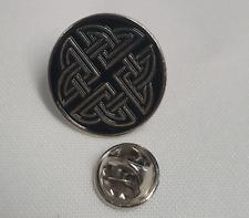 Celtic Knot Enamel & Metal Lapel Pin Badge - 20mm Gift Idea