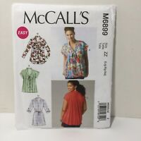 McCall's 6899 Size Lrg Xlg Xxl Misses' Top Tunic