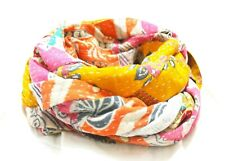 Kantha Cotton Patchwork Scarf Reversible Handmade Neck Wrap Boho Gypsy Line