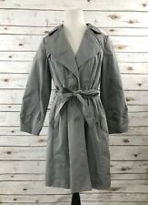 Banana Republic Gray Trench Coat/Rain Coat M