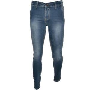 Pantalone Jeans Uomo Denim Slim Fit Effetto Sfumato tasche americane linea Basic