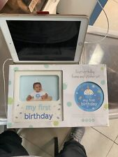 baby boy my first birthday frame and sticker set new in box
