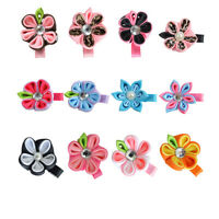 24PCS Baby Ribbon Covered Hair Clips, Flower Butterfly Dragonfly Bows Kids Girl