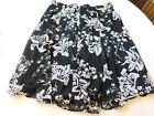 Lane Bryant Women's Ladies Skirt Size Variations Black White Floral 001112 NWT