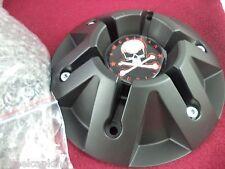 American Outlaw Wheel Flat Black Custom Wheel Center Cap # BC-830 ONE CAP W/BOLT