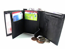 MENS HIGH QUALITY LUXURY SOFT REAL BLACK LEATHER SMALL SIZE SLIM FIT WALLET