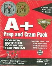 A+ Prep And Cram Pack 2 Books & PC CD Exam practice study review certification!